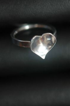 Domed Heart Ring in Sterling Silver, R59