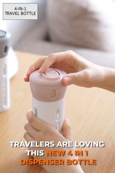 Streamline the way you stay fresh on your travels with the smart Lotion Shampoo Gel Travel Dispenser! Simply rotate the top and get instant access to shampoos conditioners lotions body wash serums hand sanitizers and more. Cool Gadgets To Buy, Gadgets And Gizmos, Travel Gadgets, Travel Essentials, Travel Tips, Travel Bag, Travel Destinations, Things I Need To Buy, Stuff To Buy
