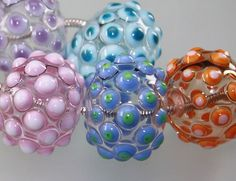 Big Hollow Blown glass beads  (made by Lezlie B....www.cankeep.com)
