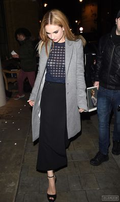 Lily James arriving at Cinderella's after Party in London March 19th 2015