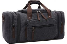 Aidonger Unisex Canvas Travel Bag Duffel Bag Weekend Bag with Strap *** Check out this great product. (This is an Amazon Affiliate link and I receive a commission for the sales)