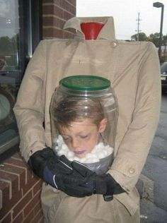 This kid is as creative as he has issues... Awesome Costume!