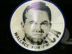 George Wallace President Original 1968 Vari-Vue Flicker Stand Up Campaign Button  $7.99 FREE SHIPPING
