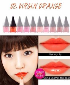 [RiRe]Lip Manicure Rouge HighFix (No.2 Virgin Orange)/Vivid Color/Waterproof #RiRe