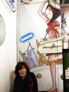 Ilustración y Diseño para Stand Infarma 2012