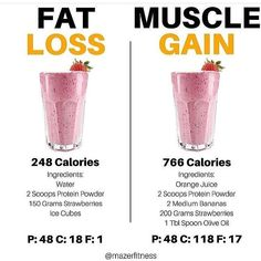 Very useful post by showing the versatility of protein smoothies/shakes. Protein shakes can be used as a low calorie snack when trying to lose weight or my personal favorite is using them as a way to sneak in a bunch of unnoticeable extra cal Weight Loss Smoothies, Healthy Smoothies, Healthy Drinks, Healthy Snacks, Weight Loss Protein Shakes, Whey Protein Smoothies, Eat Healthy, Fat Burning Smoothies, Healthy Breakfasts