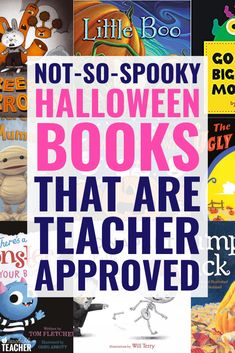These not-so-spooky halloween books for kids are not scary but include a ton of fun new stories and Kindergarten Reading, Teaching Reading, Preschool Kindergarten, Reading Fluency, Teaching Tips, Halloween Books For Kids, Spooky Halloween, Will Terry, Planning School