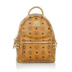 Wear this for a casual look: MCM Mini Mini Mini Stark Backpack in Cognac www.fashionette.de