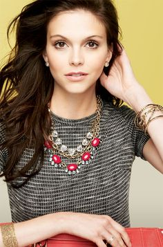 Triangular Glass Crystal & Gold Necklace | Somerveil Necklace | Stella & Dot worn with Mae and Christina necklaces
