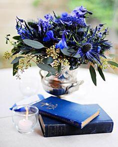 Royal Blue wedding centerpieces