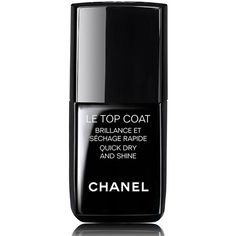 CHANEL LE TOP COAT - COLLECTION LES AUTOMNALESQuick Dry and Shine ($28) ❤ liked on Polyvore featuring beauty products, nail care, nail polish, beauty, makeup, nails, chanel, filler, shiny nail polish and glossy nail polish
