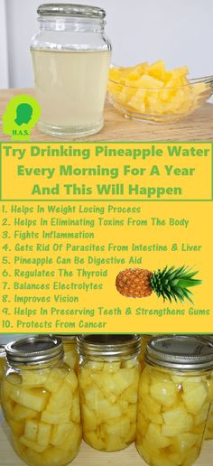 It is important to have good habits and at least one morning ritual, like drinking pineapple water