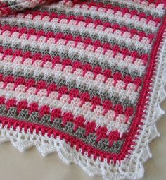 "(Crochet * Special guest: Chichi) Today is a ""Special Guest Day"". I am sharing a lovely project made by my aunt Chichi. Crochet For Children: Larksfoot Crochet Pattern Stitch - Baby Afghan As winter is approaching, those who live in areas where snow a Crochet Afghans, Baby Afghans, Baby Blanket Crochet, Crochet Stitches, Crochet Blankets, Afghan Blanket, Baby Blankets, Crochet For Kids, Free Crochet"