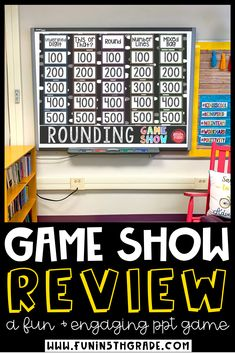 No prep, self checking rounding whole number game show activity is so much fun for upper elementary!  Your students will love this interactive game show that helps them practice their rounding skills.  This game show can be used with PowerPoint, Google Slides or Keynote.  So many options!  Your students will cheer when they see this game come up!
