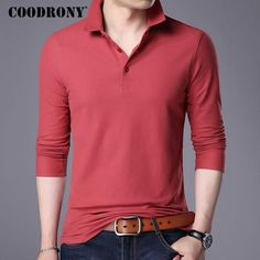 Men's T-shirt Long Sleeve T-Shirt Men Brand Clothing Pure Cotton T Shirt Men Solid Color Top
