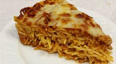 Spaghetti pie is a fun way to make dinner with leftovers for later
