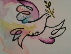 My basic design for my dove tattoo