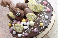 Dripcake Paastaart met Witte Chocolademousse - Koken met Anita