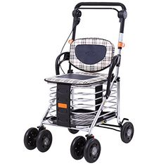 Gfywz Elderly Walker Aid Aluminum Lightweight Folding