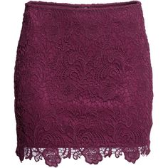 H&M Lace skirt ($18) ❤ liked on Polyvore featuring skirts, saias, bottoms, h&m, burgundy, knee length lace skirt, burgundy lace skirt, purple lace skirt, lacy skirt and burgundy skirt