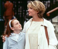 "Lindsay Lohan with Natasha Richardson in ""The Parent Trap."""