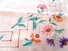 Салфетка вышивка уголок 72х67см.