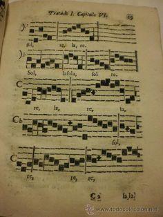 INTERESANTE LIBRO. FRAGMENTOS MUSICOS. CAUDALOSA FUENTE GREGORIANA. BERNARDO COMES. BARCELONA. 1739
