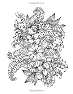 Amazon Flowers And Floral Patterns 60 Full Page Line Drawings Ready For