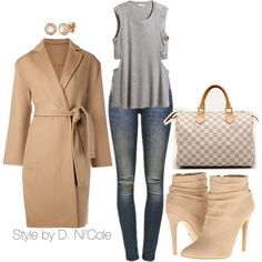 A fashion look from November 2014 featuring Jarbo coats, Anine Bing jeans and H&M. Browse and shop related looks.