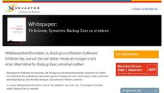 Hamburger Datensicherungsexperte NovaStor veröffentlicht 10 Gründe, Symantec Backup Exec zu ersetzen - pressebox.de (11.02.2014)