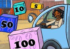 Este episodio practica cómo contar con saltos de 5, 10, 50 y 100. Cargad un camión con cajas que contengan 5, 10, 100 o 500 pelotas de béisbol para reunir la cantidad de un pedido. I 2º, 3º de Primaria matific.com
