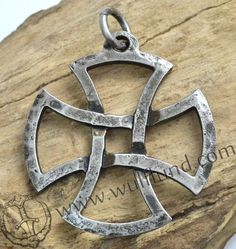 TEMPLAR CROSS, forged pendant Welsh Celtic.