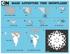 D.I.Y. Adventure time ice king snow flakes