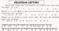 Descargar Ejercicios para Evaluar Velocidad y Comprension Lectora