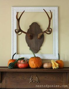 Mantel Decorations : IDEAS & INSPIRATIONS : Festive Fireplace Mantels for Fall