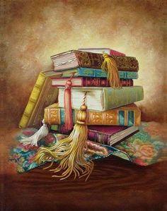 Books; tassels