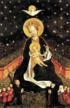Unknown Master, German (active 1450s in Cologne). Madonna on a Crescent Moon in…