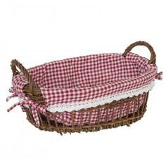 MANDEN VAN RIET OF ROTAN Red Gingham, Laundry Basket, Wicker, Picnic, Groot, Picnics, Picnic Foods, Bathroom Laundry Hampers, Red Umbrella