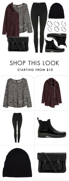 """""""Sin título #11857"""" by vany-alvarado ❤ liked on Polyvore featuring H&M, Topshop, Hunter, Yves Saint Laurent, The Cambridge Satchel Company and ASOS"""