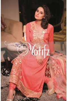MOTIFZ PRODUCT: MWU00699-PINK, RETIAL PRICE: 5690, ITEM TYPE: EMBROIDERED LAWN