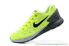 Barato Nike Air Lunar 6 Gris Negro Rebajas Zapatillas Hombres Verde yellow  and white and black~~ 66d2b67a85c93