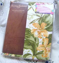 TOMMY BAHAMA Fabric Shower Curtain Purcell Point Tropical 72x72 100% Cotton  #TommyBahama #Tropical