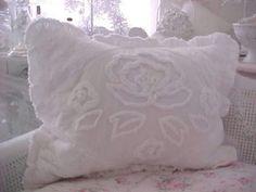 Romantic Homes Shabby Chic Vintage Chenille Bedspread Shabby Chic Bedding White Pink Roses Velvet Comforter Quilt Pillow Sham Chenille Patchwork Baby Toddler Bedding