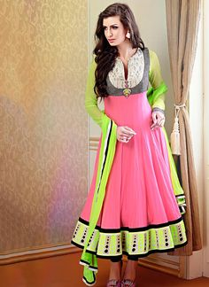 Spellbinding Pink Anarkali Suit