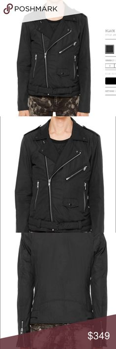 BLK DNM Men's Black Jacket NWT BLK DNM NYC Men's Black Jacket. Material: Polyester. Size: Small. Currently being sold on their website for $695!! This jacket is brand new and has never been worn. Feel free to ask any questions. BLK DNM Jackets & Coats