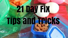 21 Day Fix Tips and Tricks