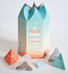 Muito mais que simples sachês!  Embalagem de chá Designed by Megan Lee Earl