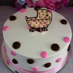 Cakes for any baby shower themed for a girl.