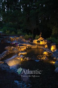 Atlantic Water Gardens SOL LED Lighting options work great in both aquatic and landscape applications!