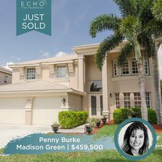 Huge congrats to our super agent Penny Burke on the sale of this gorgeous home in Madison Green. This one only spent 26 days on the market! Contact Penny with all your Real Estate needs: ☎️561.320.2567 ✉️Penny@EchoFineProperties.com #Sold #NewHome #RealEstate #Realtor #Property #Broker #SuperAgent #Congratulations #JustSold #LuxuryRealEstate #FloridaRealEstate #FloridaRealtor #HomeSweetHome Royal Palm Beach, Flo Rida, One And Only, Luxury Real Estate, Beautiful Homes, Congratulations, Sweet Home, New Homes, Mansions